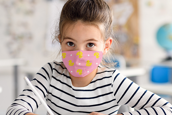 Child's Duck Face Mask Image