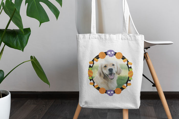 Furry Friend Halloween Tote Image