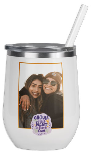 Ghouls Photo Wine Tumbler  Thumbnail