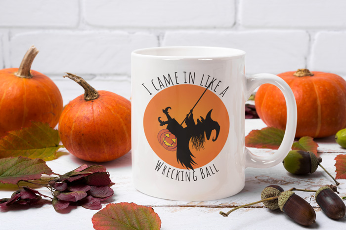 Wrecking Ball Witch Mug Image