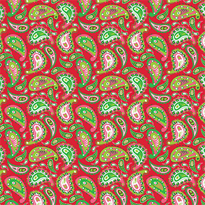 Paisley Red by SparkleBerry for Sawgrass